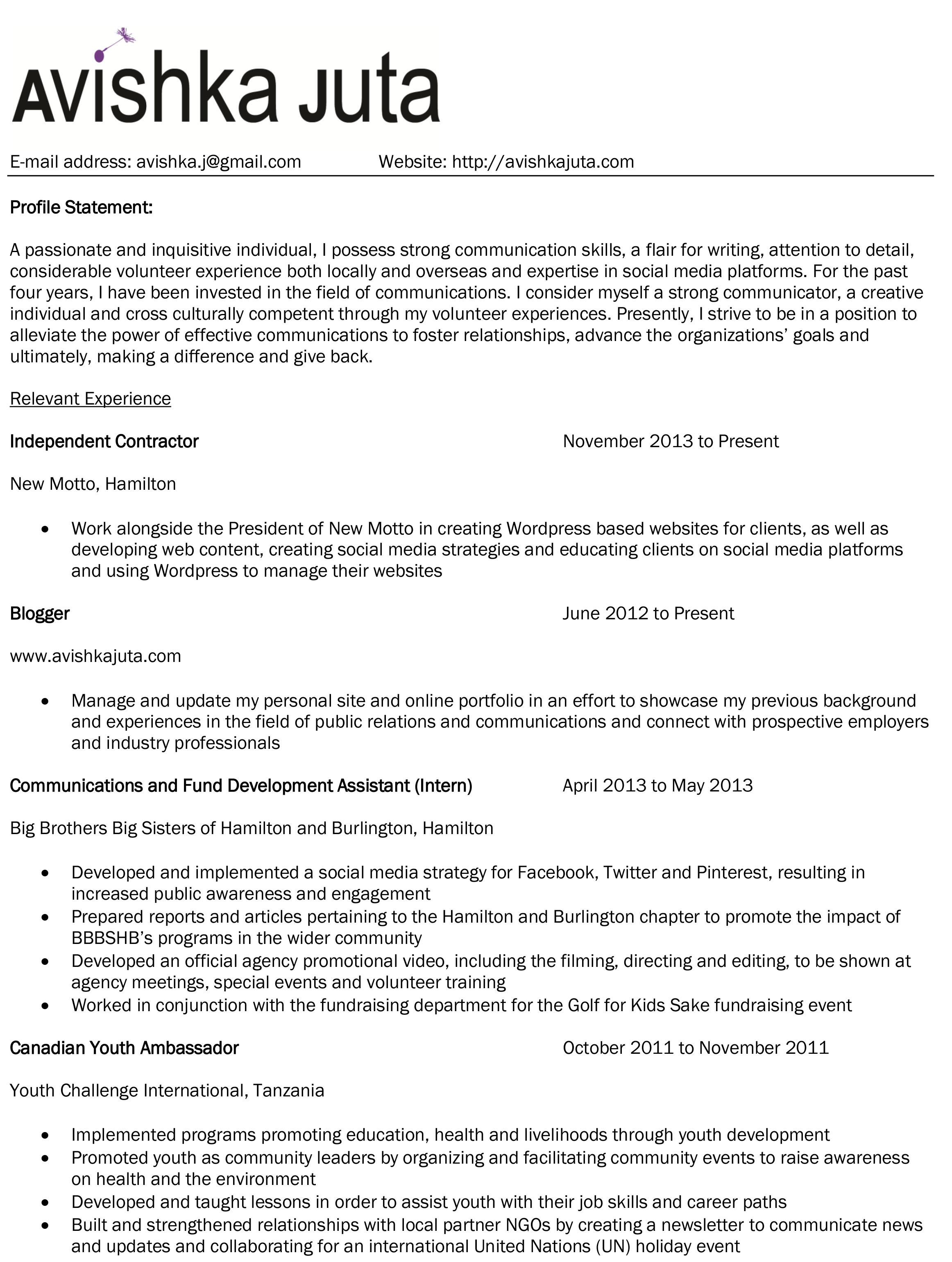 areas of expertise on a resume