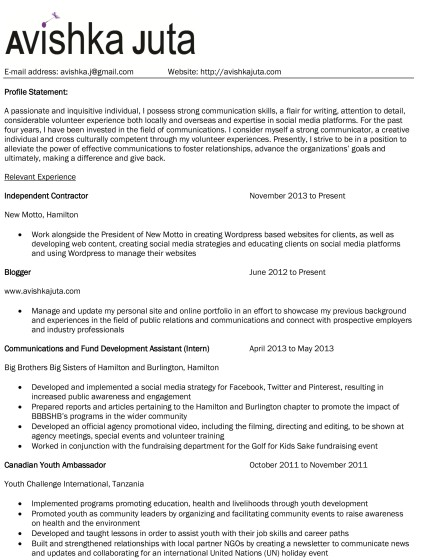 seeking employment email sle at mission college